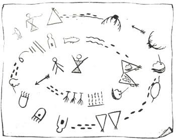 Индейская история в картинках